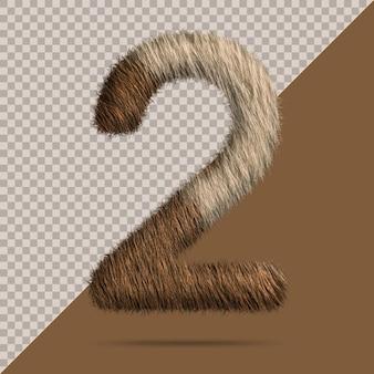 Номер 2 с реалистичным 3d мехом