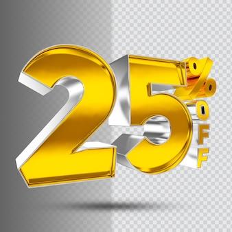 Number 25 off 3d golden luxury