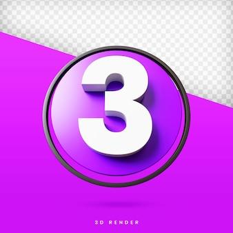 Номер 3d рендер премиум psd