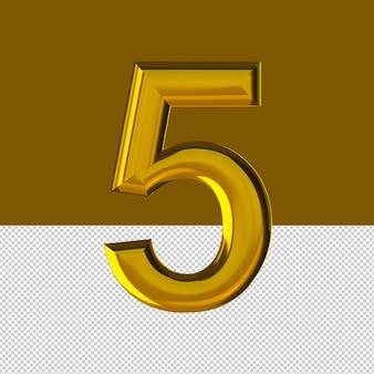 숫자 5 텍스트 효과 오일