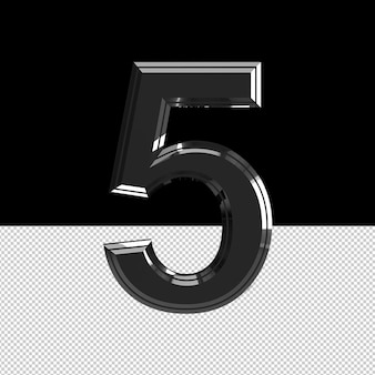 Number 5 text effect