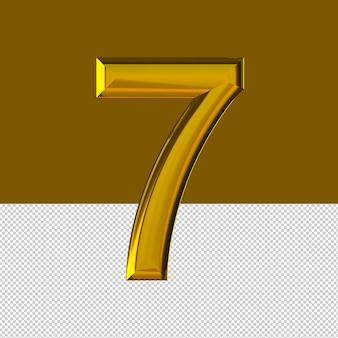 숫자 7 텍스트 효과 오일