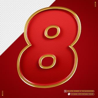 Number 8 banner