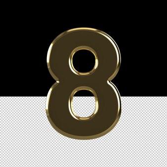 ナンバー8テキストエフェクトアイス