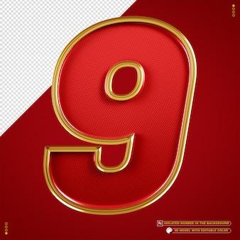 Number 9 banner