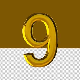 숫자 9 텍스트 효과 오일