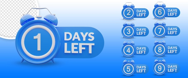 Number of days left promotional marketing design
