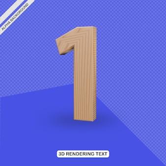 Номер пять визуализации 3d текстовый эффект