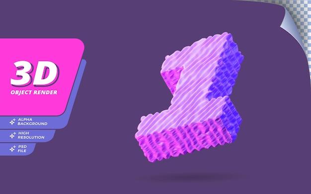 1번, 3d 렌더링에서 1번 추상 지형 보라색 와이어 질감 디자인 일러스트와 함께 격리