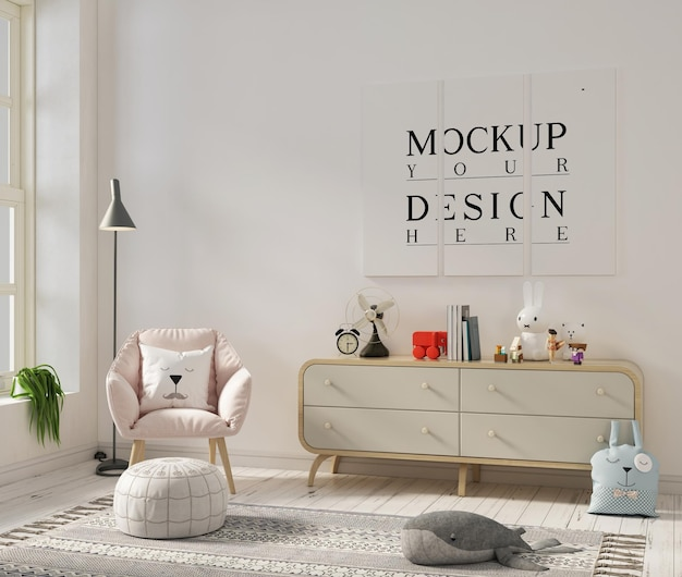 モックアップポスター付き保育室