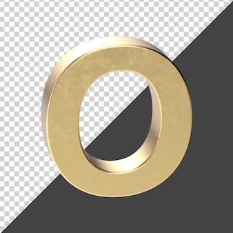О заглавная буква золотой рендеринг изолированные