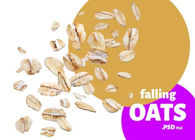Oat flakes, oatmeal banner