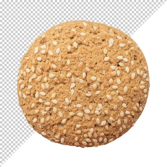 Oatmeal cookie on a transparent background