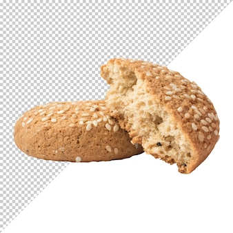 Oatmeal cookies on a transparent background
