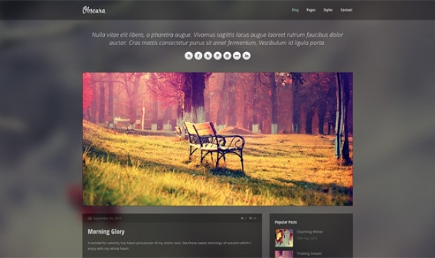 Obscura - responsive html template