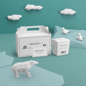 Концепция дня океана с белым медведем