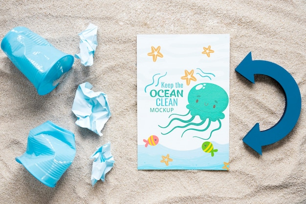 Ocean day keep the waters clean mock-up