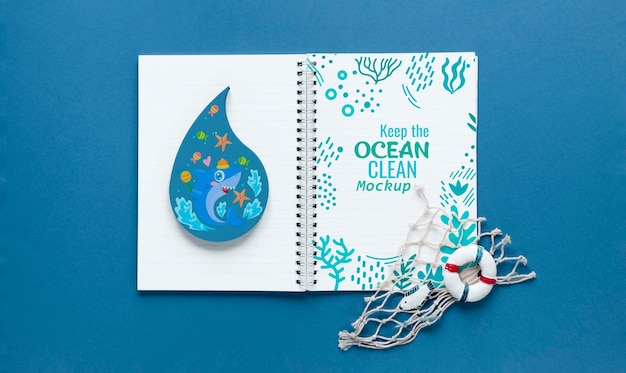 Ocean day mock-up and notes for ocean
