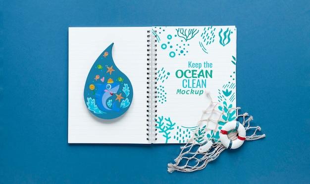Ocean day mock-up e note per l'oceano