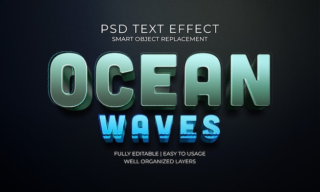 Ocean waves text effect