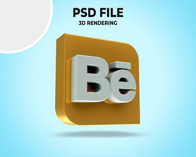 현대 3d의 소셜 미디어 아이콘 로고