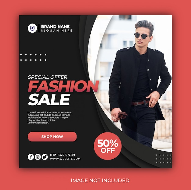 Offer fashion sale cover or banner template design