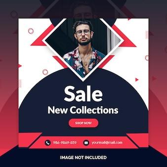 Offer sale web social media banner template