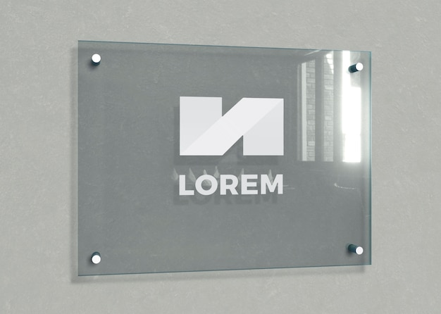 Office buildings identification plate