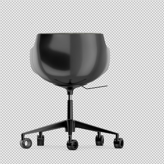 Office chair 3d isolated render