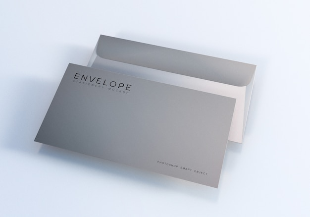 Office envelope monarch size mockup