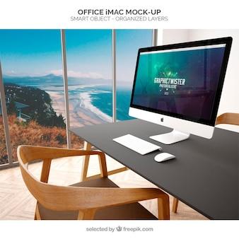 オフィスのimacモックアップ