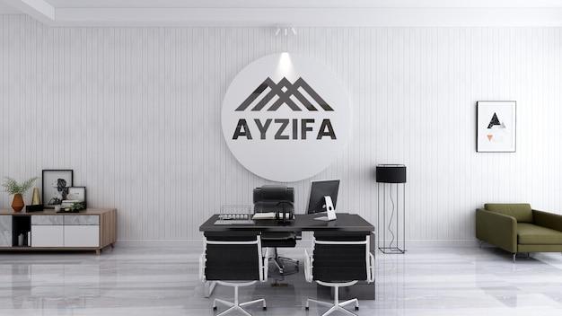 Макет логотипа офиса с элегантным дизайном