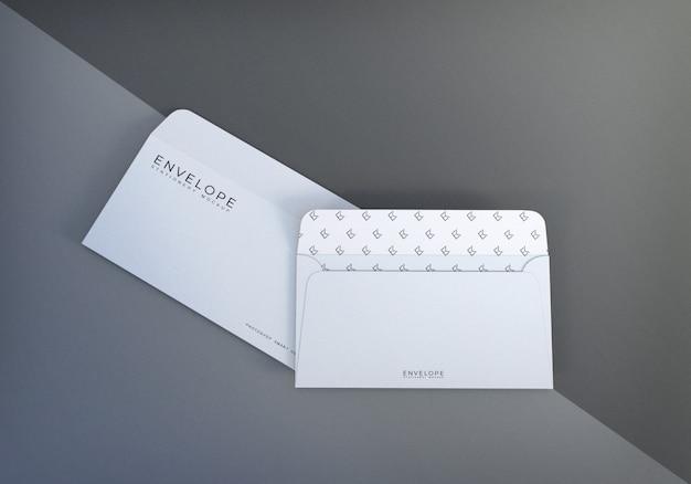 Office monarch envelope mockup for presentation