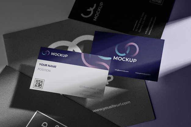 Office stationery mock-up with paper