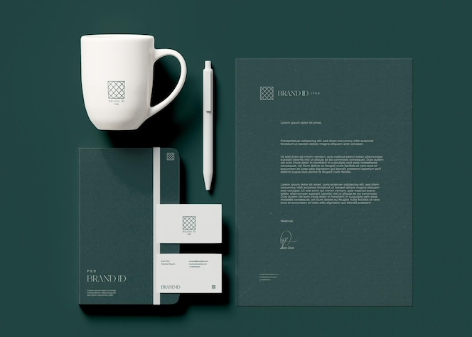 Office stationery mockup