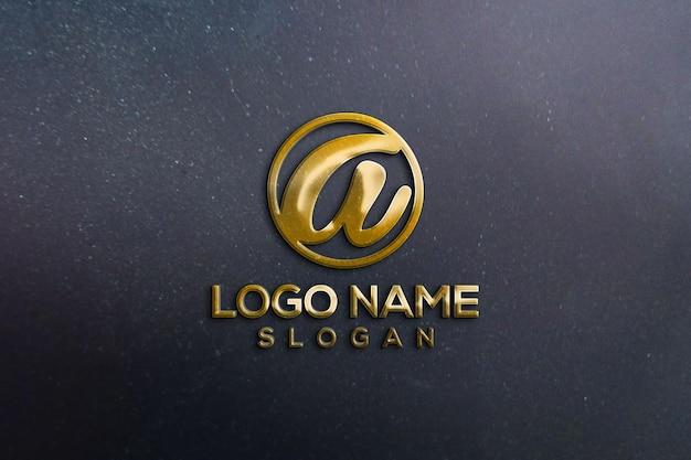 Офисная стена 3d логотип макет