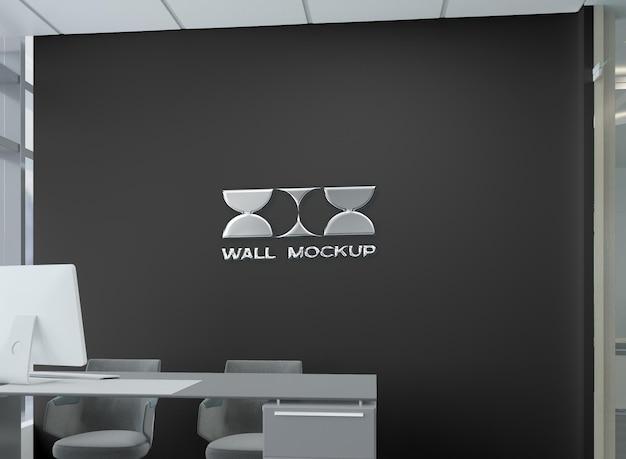 Офисная стена с логотипом mocku