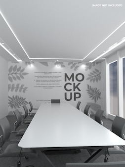 Макет стены офиса
