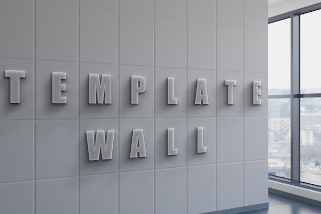 Макет знака стены офиса