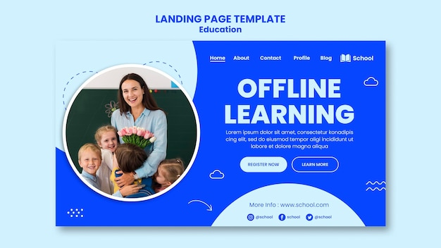 Offline learning landing page