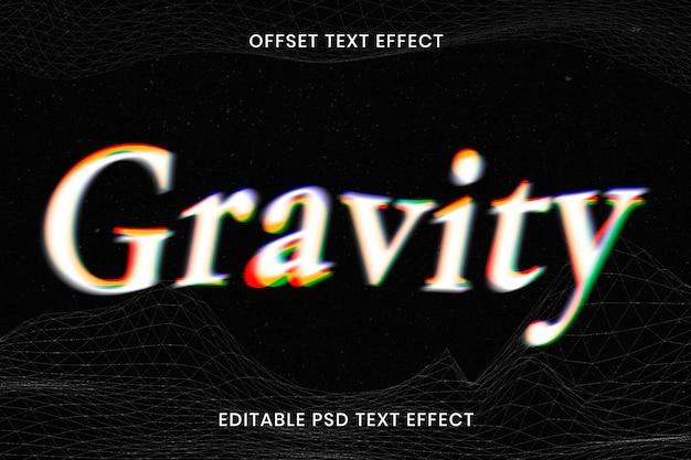Offset text effect psd editable template