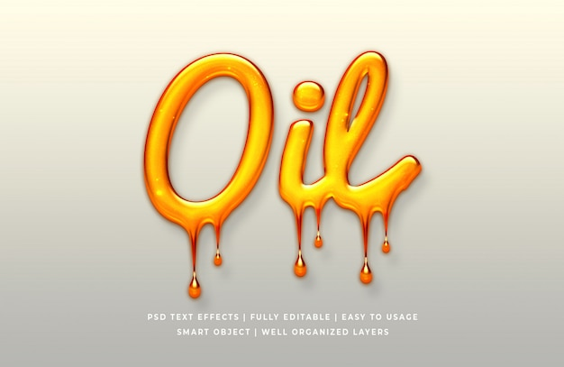 Oil 3d text style effect