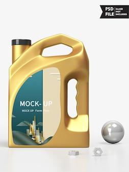 Макет бутылки с маслом