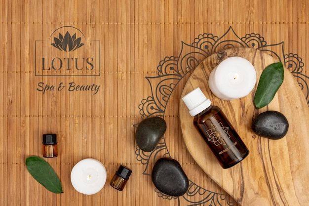 Oily organic products for treatments at spa