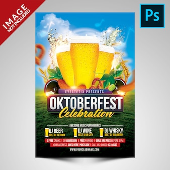 Oktoberfest celebration flyer template