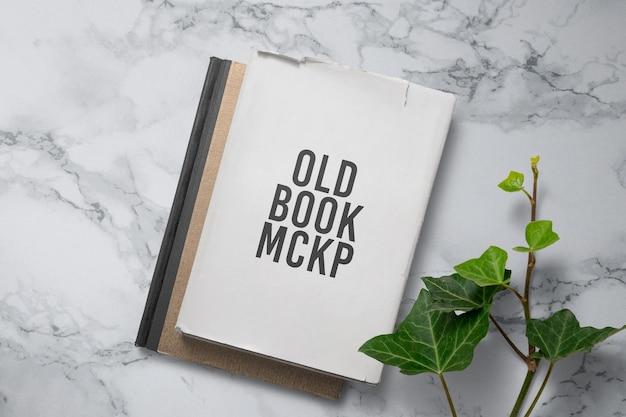 오래된 책 표지 모형 디자인