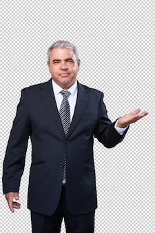 Old businessman with suit
