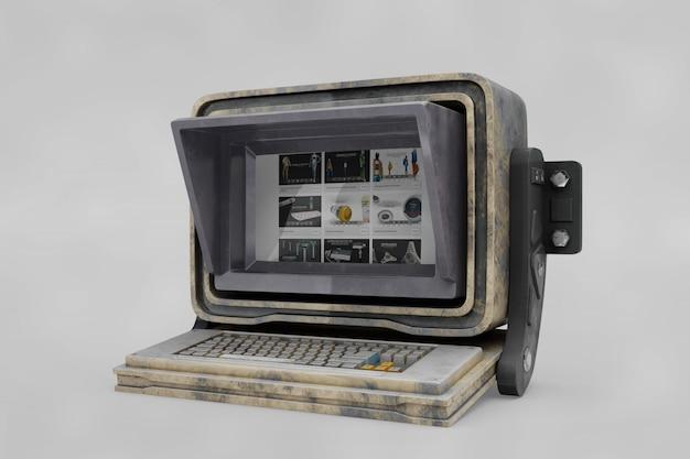 Старый компьютерный макет