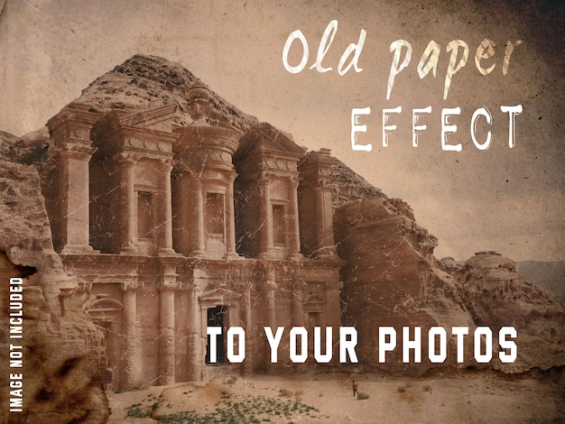 Old paper effect to your photos