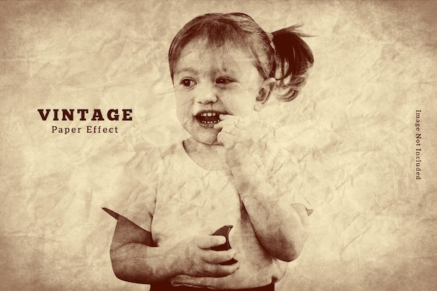 Old paper photo effect template
